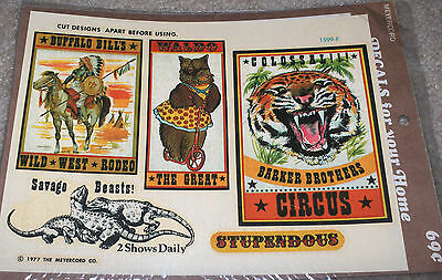 1977 Meyercord Wild West Rodeo / Circus Animals Decals