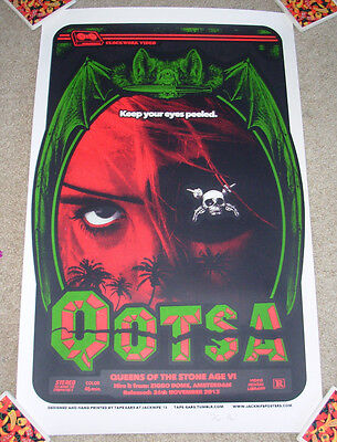 QUEENS OF THE STONE AGE concert gig tour poster 11-26-13 AMSTERDAM 2013