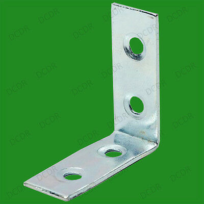 """50x 50mm (2"""") Corner Braces L Shaped, Right Angle Support Fixing Repair Brackets"""