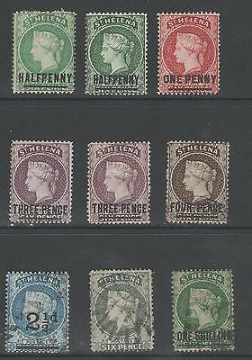 St Helena Victorian Selection Mint And Used Cat £120+