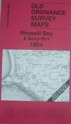 Old Ordnance Survey Maps Gower Peninsula Rhossili Burry Port & Llanrhidian 1904