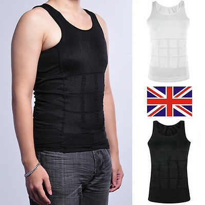 Powerful Body Shaper Vest Chest Belly Slim Waist For Man Boobs Moobs COMPRESSION