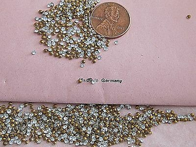 Ss5 Clear Glass 11Pp Vintage Package 1200 Germany Rhinestones Lot Jewelry Repair