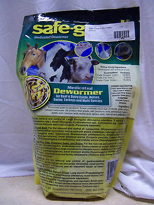 Safe-Guard Medicated Dewormer Pellets Horse Pony Cow Cattle Dairy Beef Pig 1 lb