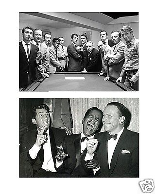 Lot of 2  The Rat Pack  Frank Sinatra Dean Martin Sammy Davis Jr.  4 x 6 Photo