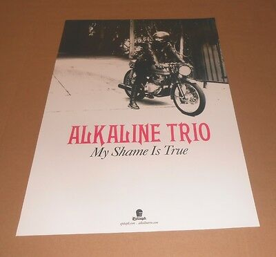 Alkaline Trio My Shame is True Original Promo Poster 13x19