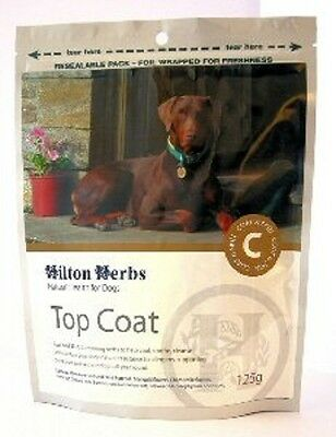 HILTON HERBS CANINE TOP COAT dog coat wellbeing skin natural supplement