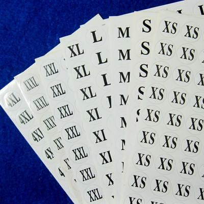 528 Clothes Apparel Size Stickers Retail Round Self-Adhesive Clothing Labels Lot