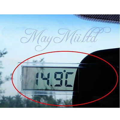 BS Transparent Digital LCD Car Windscreen Temperature Thermometer Suction Cup