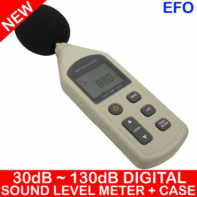 DIGITAL SOUND LEVEL METER 30dBA ~ 130dBA ±1.5dB DECIBELS A/C WEIGHTING HOLD CASE