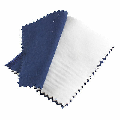 Large Ultra Soft Jewellery Cleaning Cloth Silver Gold Platinum - 2 Cloth System