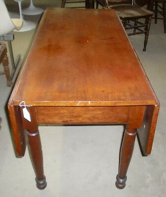 Antique Old Finish Cherry Drop Leaf Table