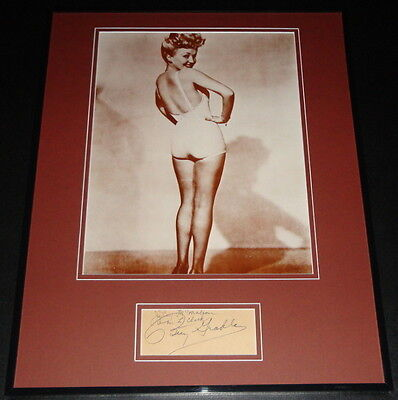 Betty Grable Signed Framed 16x20 Photo Poster Display JSA