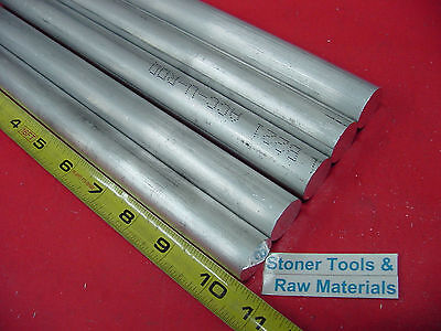 """5 Pieces 7/8"""" ALUMINUM 6061 ROUND ROD 10.5"""" long T6511 Solid New Lathe Bar Stock"""