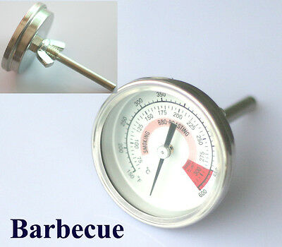 2x Grill Smoker Smoking BBQ Barbecue Thermometer Temp Gauge New