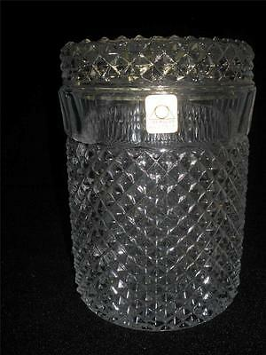 Fabulous Glass Container With Lid 'oberglas' Austria