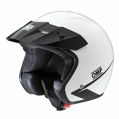 OMP Star ECE Approved Open Face Race/Racing/Rally/Track Day Helmet In White