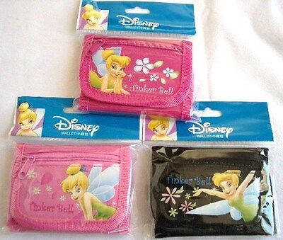 3 pcs Disney Tinkerbell Tri Fold Wallet Girls Licensed Pretend Toy Birthday Gift