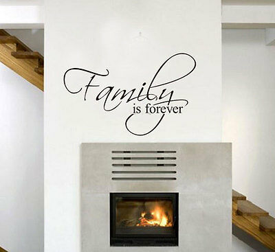 "English Words Wall Stickers Art Decor ""Family is forever"" Wall Decal"