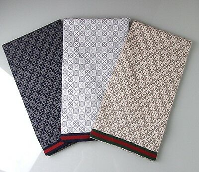 NEW Authentic Gucci Wool Diamante Scarf w/Webbing Design, More Varieties, 347979