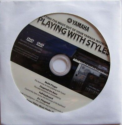 Yamaha Playing with Styles DVD, New! For Many YPG DGX PSR DJX Model Keyboards