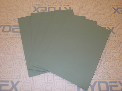 5 Pack 2mm KYDEX T SHEET haircell 297 X 210 A4 SIZE (P-1 OLIVE DRAB GREEN 32140)
