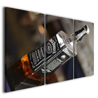 Quadri moderni canvas JACK DANIELS stampe su tela whiskey bar cocktail 130x90
