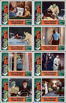I WAS A TEENAGE FRANKENSTEIN Complete Set Of 8 Individual 8x10 LC Prints 1957