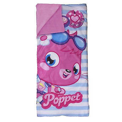 Childrens Girls Pink Moshi Monsters Vouge Sleeping Bag I Love Holidays Camping