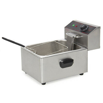 2500W Electric Deep Fryer w/ Easy Control Switch, Removable Tank, Basket, Lid