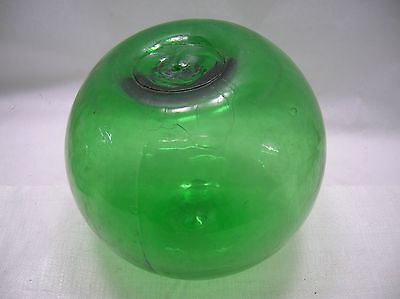 "Vintage Glass Fishing Float 12""Green Chinese #12"