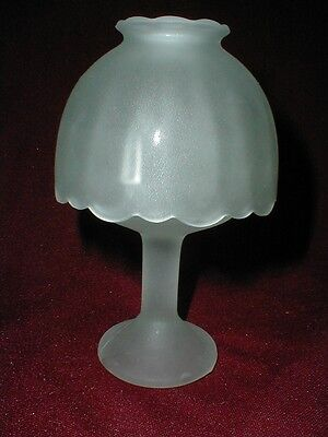 Votive Candle Holder White Frosted/Satin Glass Fairy Lamp/Light