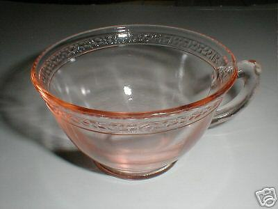 L E Smith Pink Depression Glass PEBBLED RIM Cup/s Only