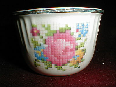 Harker Pottery Hotoven/Hot Oven PETIT POINT Custard Cup/s