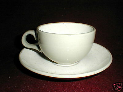 Harker Pottery Harkerware WHITE CAP Gray Cup Suacer/s