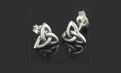 Triquetra Post Earrings  -SS