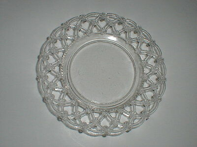 Westmoreland Lace Edge FORGET ME NOT Clear Glass Plate (Loc-Sau11)