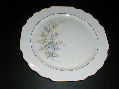 W S George Lido Canarytone #397A  Pastel Floral on Left Dinner Plate (LOC-23Z)