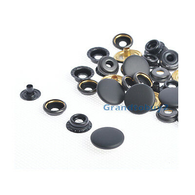 12.5/15/17mm Matt Black Sewing Leather Snap Fasteners Press Studs Poppers Button