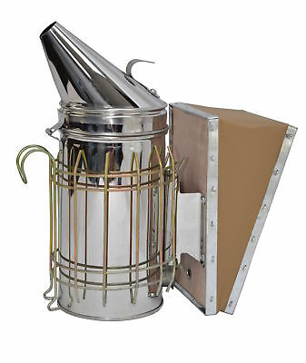New Bee Hive Smoker Stainless Steel w/Heat Shield Beekeeping Equipment from VIVO