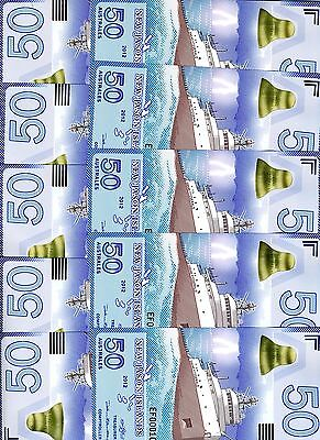 LOT New Jason Islands, 10 x 50 Australes, 2012, POLYMER, UNC > Ship
