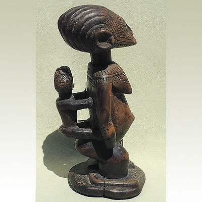an expressive maternity figure with good patina idoma nigeria