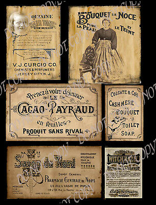 Primitive Vintage Label~French Ladies Products - #FH290