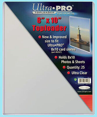 "25 Ultra Pro 8""x10"" TOPLOADERS NEW for Sleeves Memorabilia Photos Collectibles"