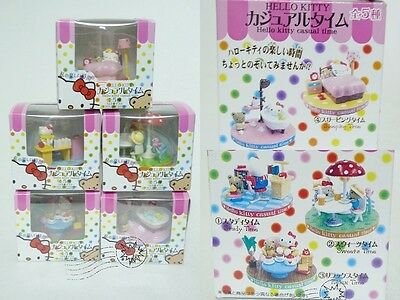 New 5 PCS Hello Kitty Casual Time Figure SEt