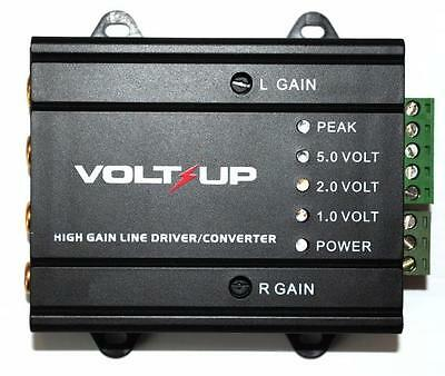 High Gain Line Driver Converter 2 Channel Input Low Output Amplifier Trigger RCA