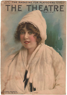 *Vintage* 1913 THE THEATRE MAGAZINE Cover MISS MAY DESOUSA Stage Beauty ACTRESS