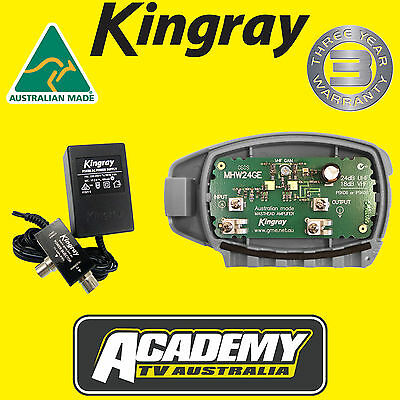 Mhw24Ge Kingray Digital Tv Masthead Amplifier Booster Inc Psk08 Power Supply
