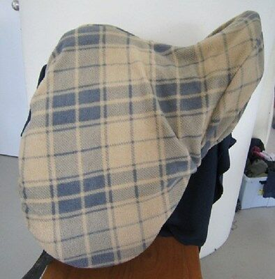 Horse Saddle cover Beige Tartan with FREE EMBROIDERY Australian Made Protection
