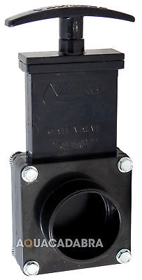 "GENUINE VALTERRA 43mm 1.5"" OUTLET PIPE SLIDE GATE VALVE KOI FISH POND FILTER"